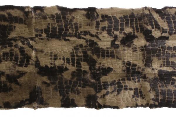 Alanis Aceituna Oscuro Mono Auster Ls. Big Croco 16mm